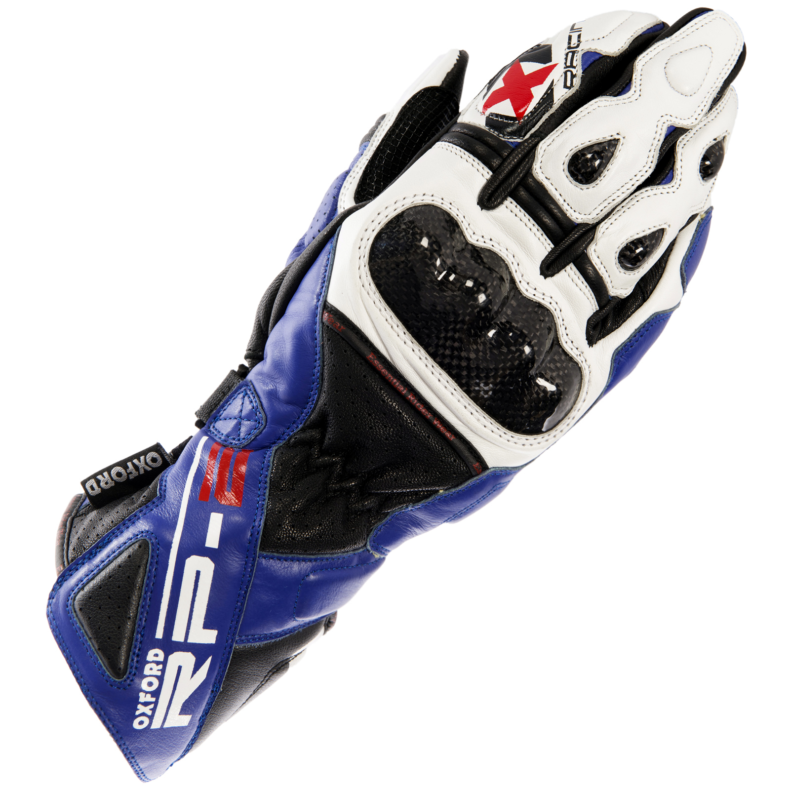 Motorcycle gloves external seams - Oxford Rp 2 Leather Armoured Summer Motorcycle Sports