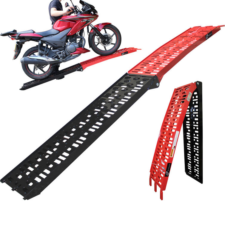 Black Pro Range Coated Folding Motorcycle Loading Ramp (B5144)