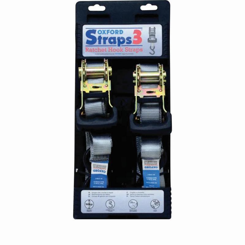 Oxford Straps 3 Ratchet Hook Straps