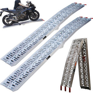 Black Aluminium Folding ATV Quad Loading Ramp (Pair)