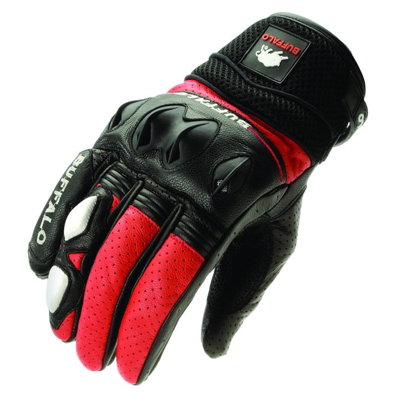 Buffalo 322 Short Leather Sports Summer Vented Motorbike