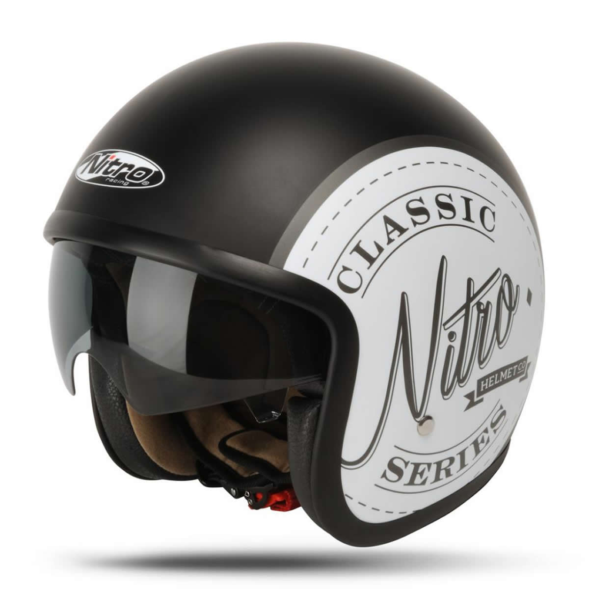 NITRO X DECAL CLASSIC OPEN FACE SUN SHIELD SCOOTER MOD BIKE - Motorcycle helmet decal