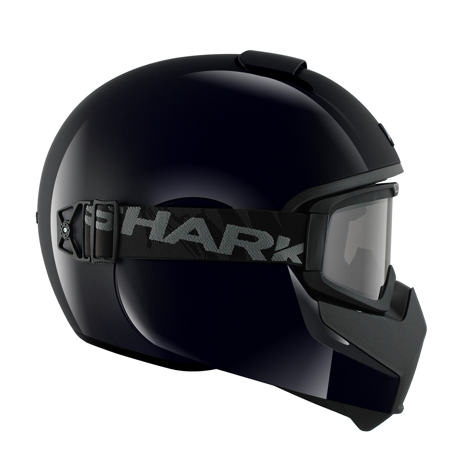 8d695bd4478ed Shark Vancore pianura nero casco da moto BLK URBAN STREET FIGHTER ...