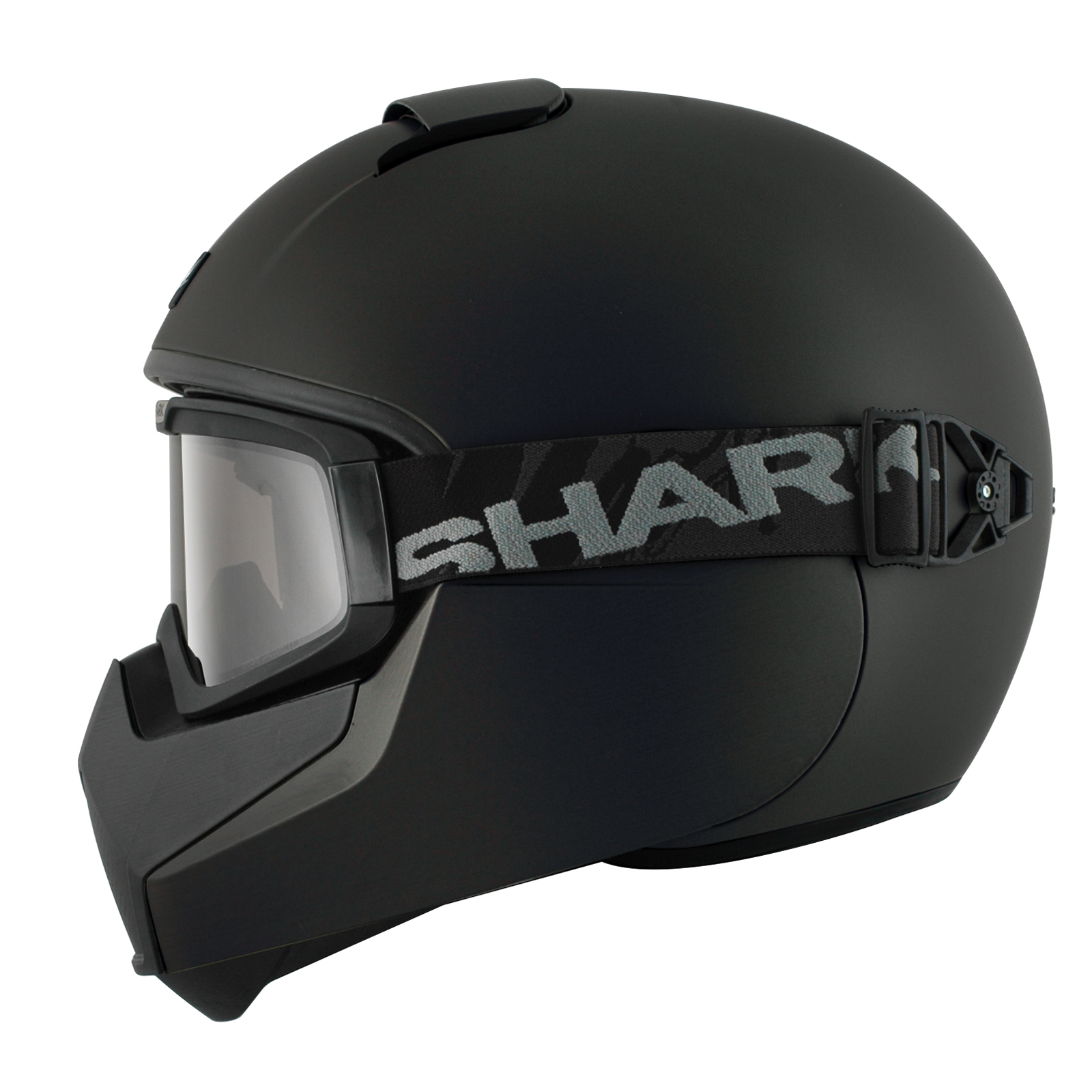 Shark Vancore Plain Matt Black Motorcycle Helmet ...