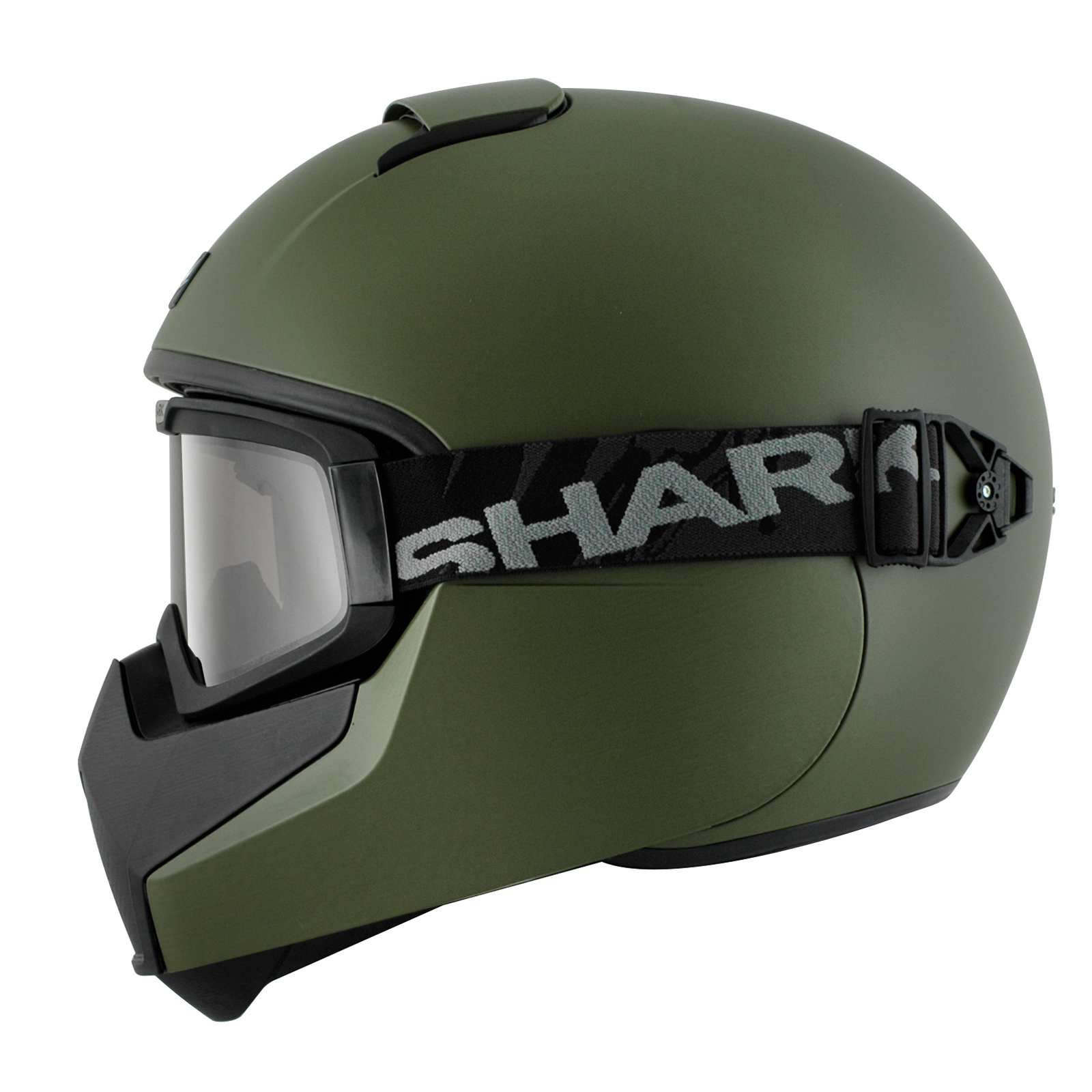 Shark Vancore Plain Matt Green Motorcycle Helmet Army ...