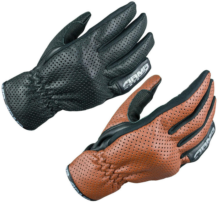 ARMR Moto SHL435 Leather Motorcycle Gloves