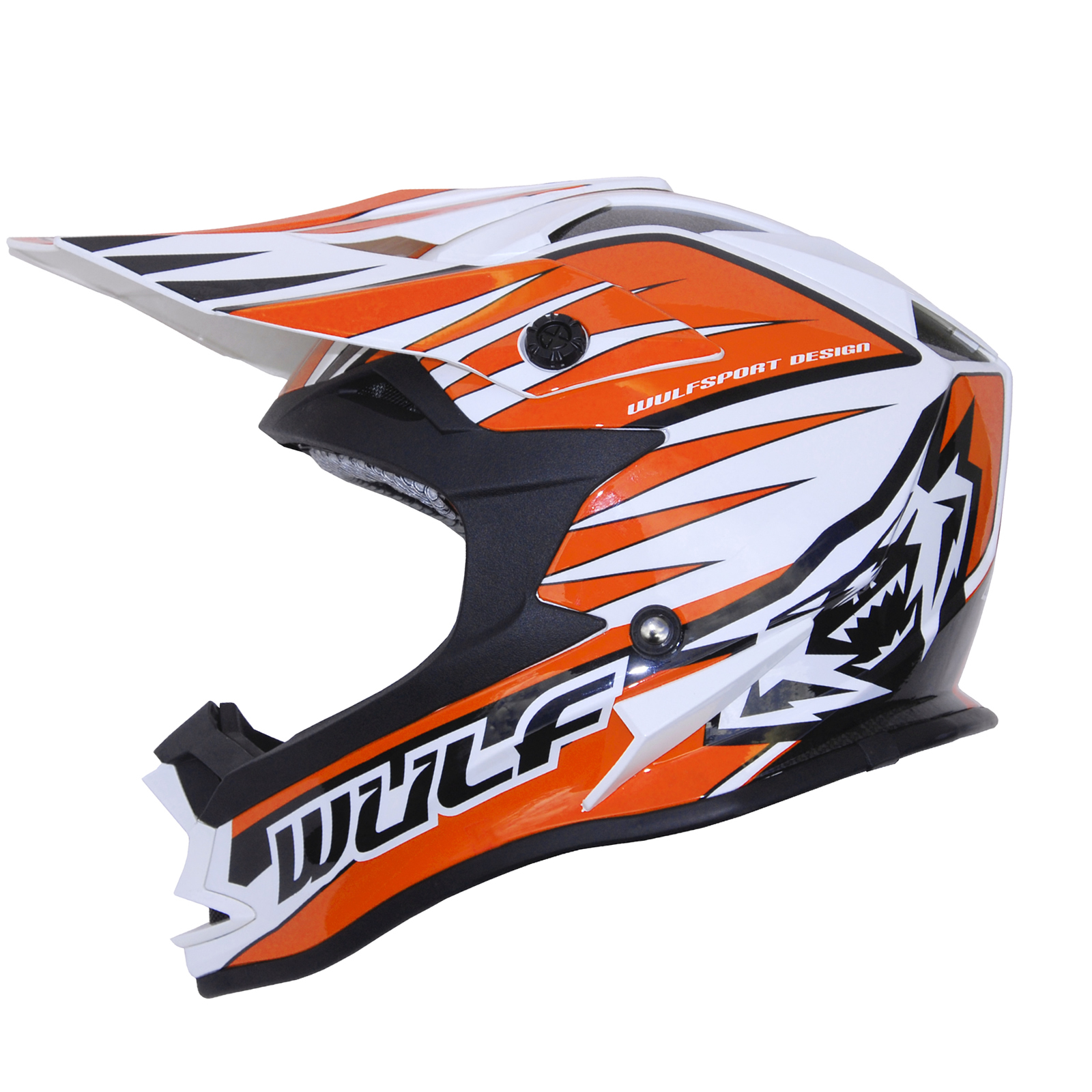 wulfsport advance orange white black motocross helmet. Black Bedroom Furniture Sets. Home Design Ideas