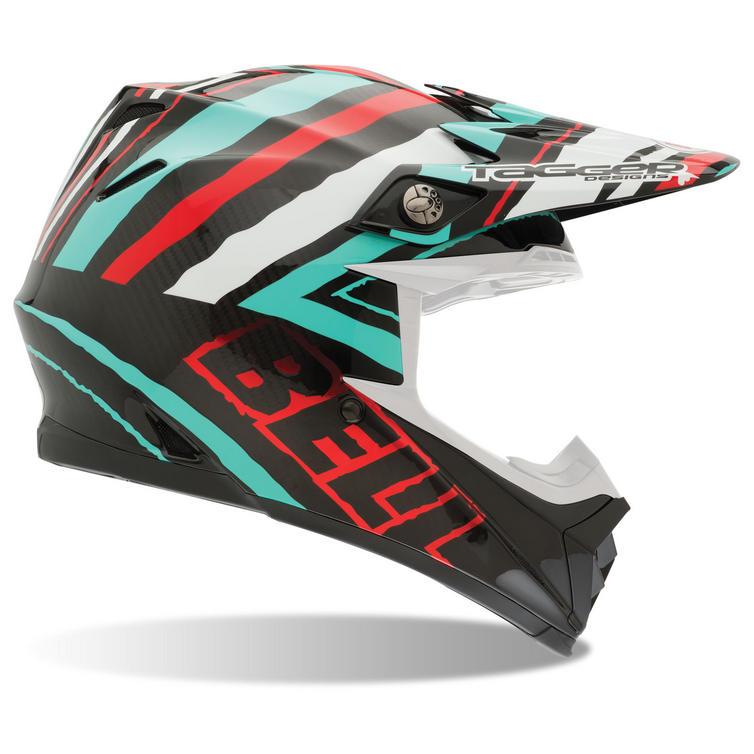 Bell Moto-9 Carbon Tagger Scrub Motocross Helmet
