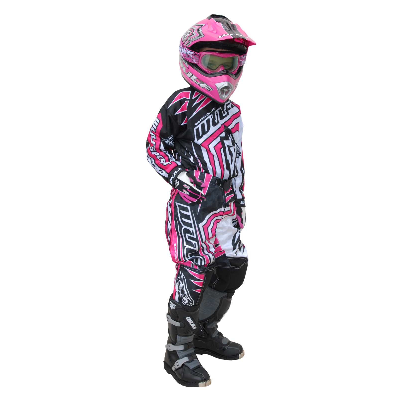 WULF WSX-4 GIRLS PINK KIDS OFF ROAD YOUTH MOTOCROSS JUNIOR MX JERSEY U0026 PANTS KIT | EBay