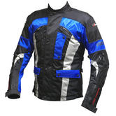 View Item Duchinni Vortex Textile Motorcycle Jacket (Blue)