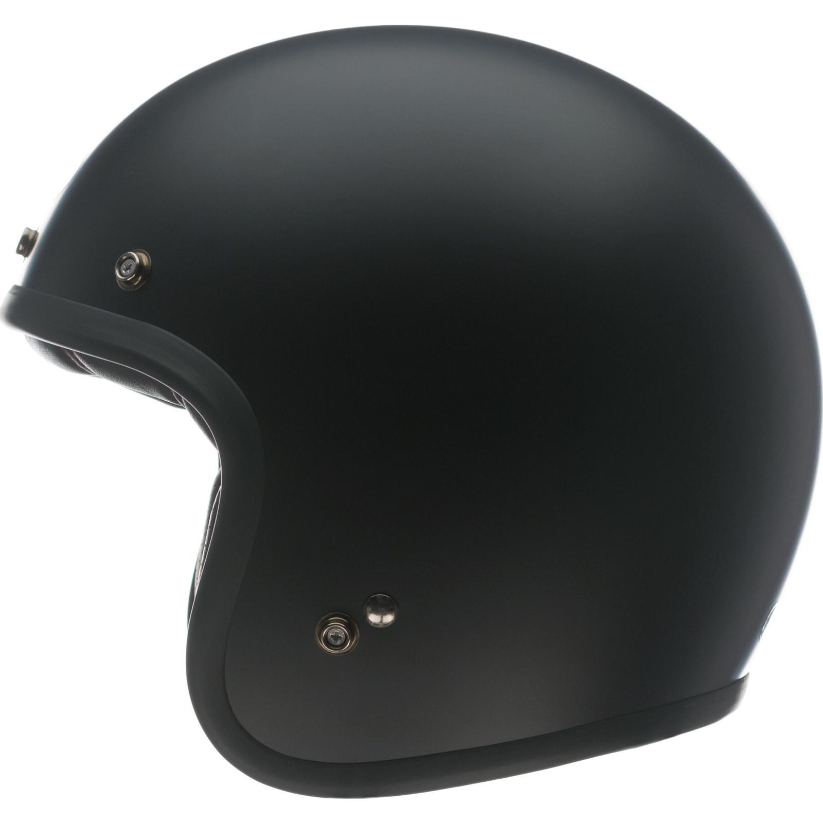 Bell Custom 500 Matte Black Motorcycle Helmet Open Face ...