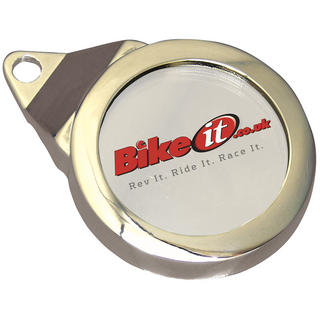 View Item Bike It Classic Chrome Tax Disc Holder