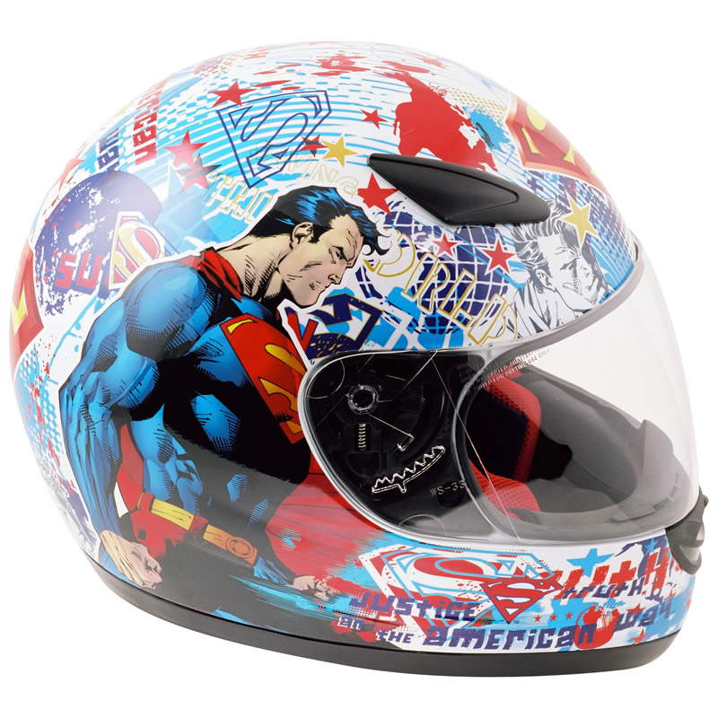 Superman Motorcycle Helmet Motorcycle Helmet Xxs