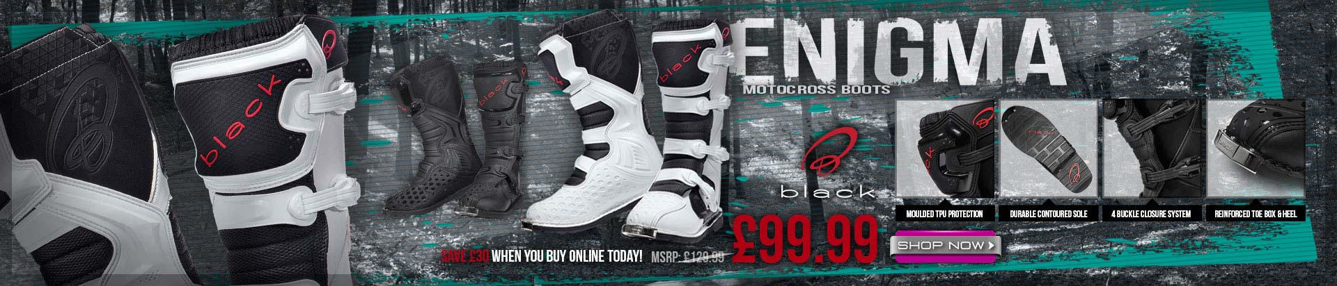 Black Enigma Mx Boots