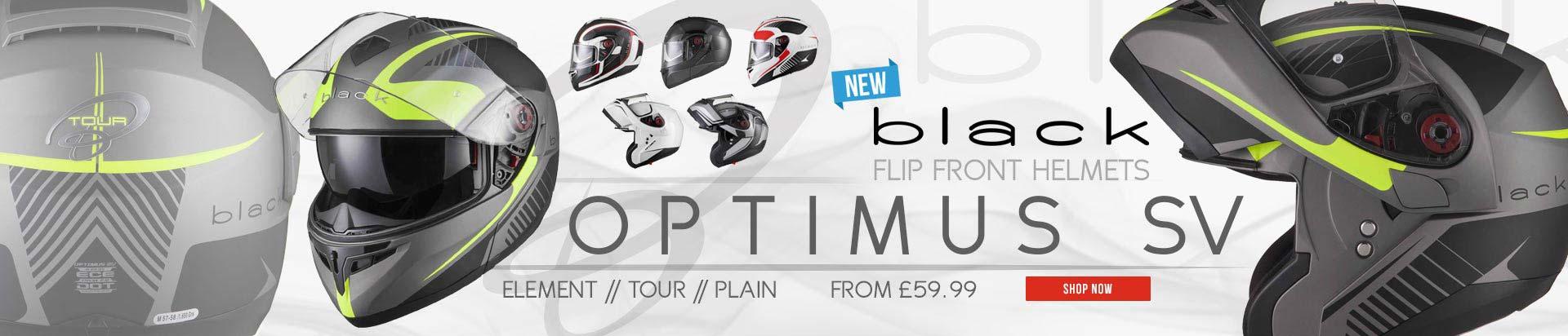 Black Optimus SV Flip Front Helmet