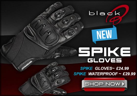 Black Spike Gloves