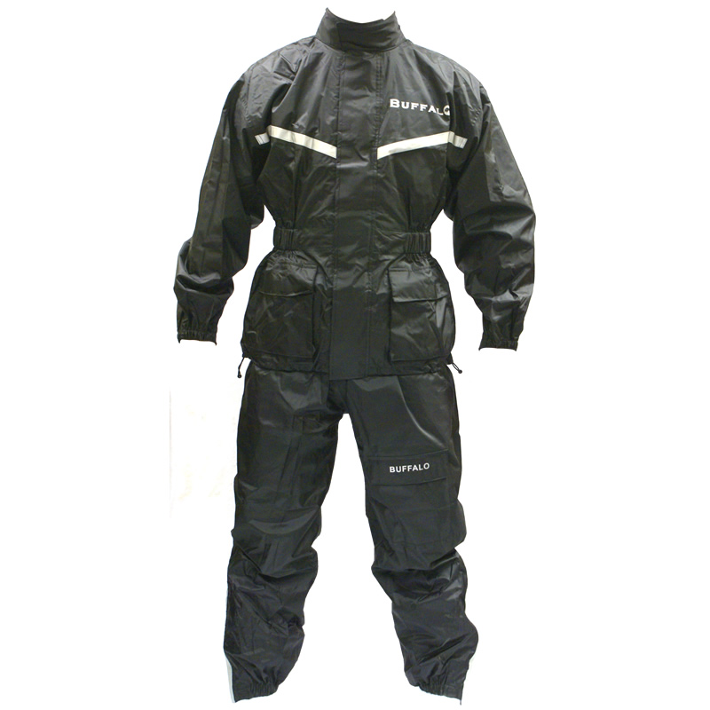 BUFFALO 2 PIECE WATERPROOF MOTORCYCLE RAIN SUIT 3XL Enlarged Preview
