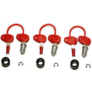 Givi Z228 3 Case Lock Barrel Key Kit