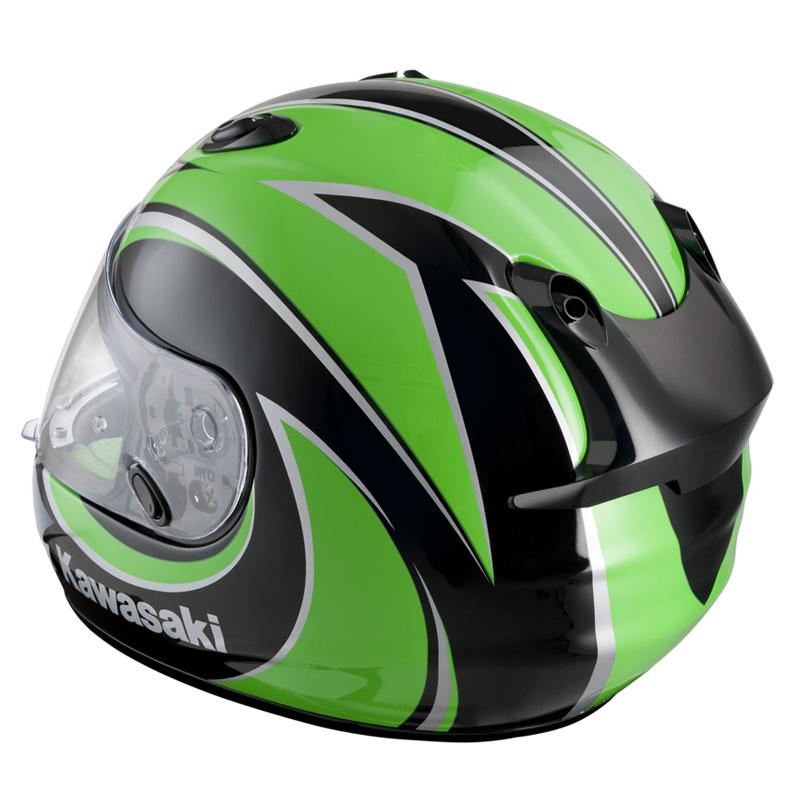 Details about HJC KAWASAKI NINJA ZX-R MOTORCYCLE ROAD HELMET GREEN XL