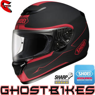 View Item Shoei Qwest Bloodflow Motorcycle Helmet