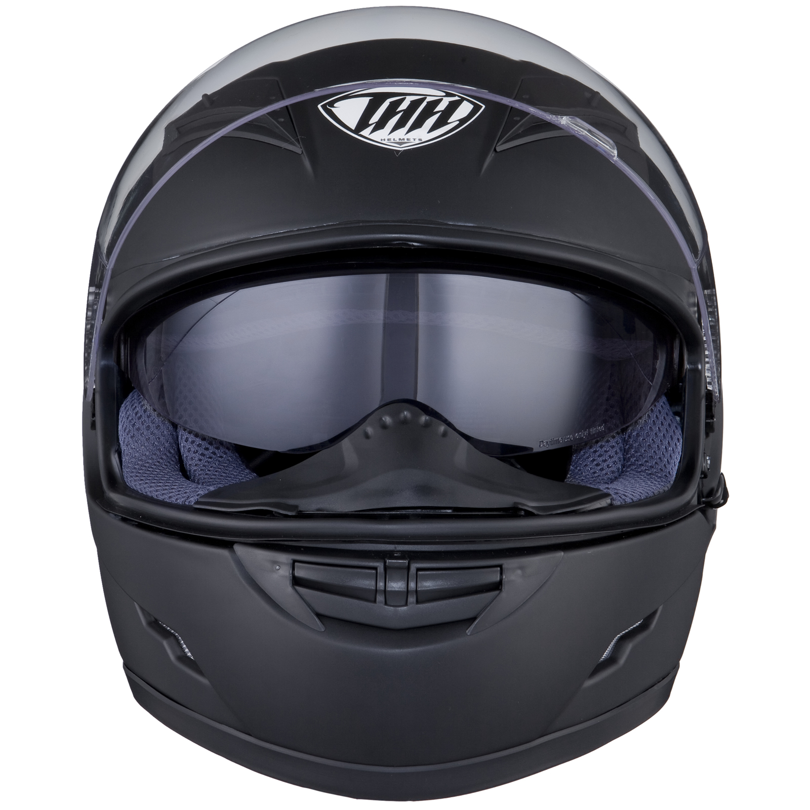 THH TS-80 Plain Matt Black Motorcycle Helmet Motorbike ...