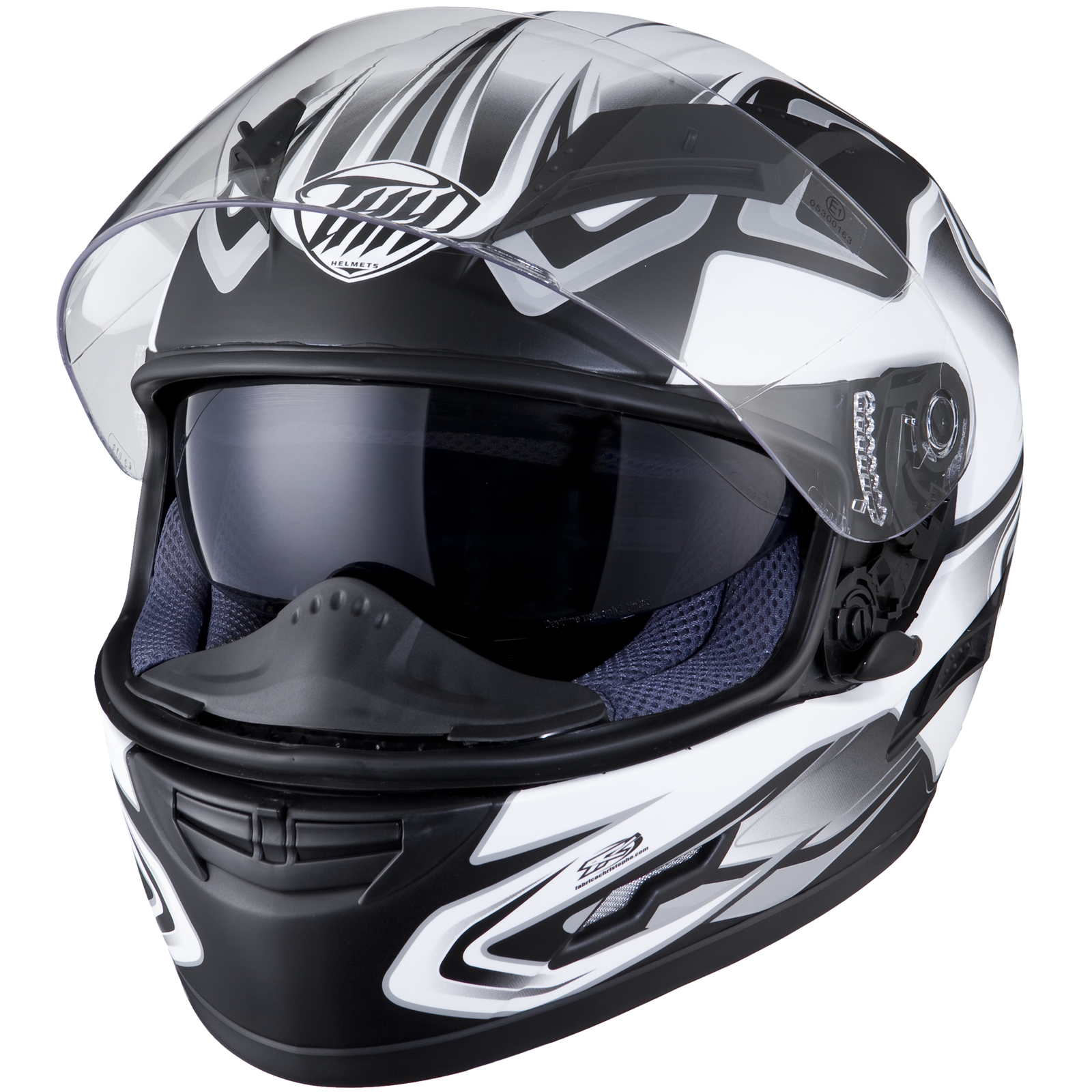 52294c0b THH TS-80 #4 Black Grey Motorcycle Helmet Full Face Internal Drop ...