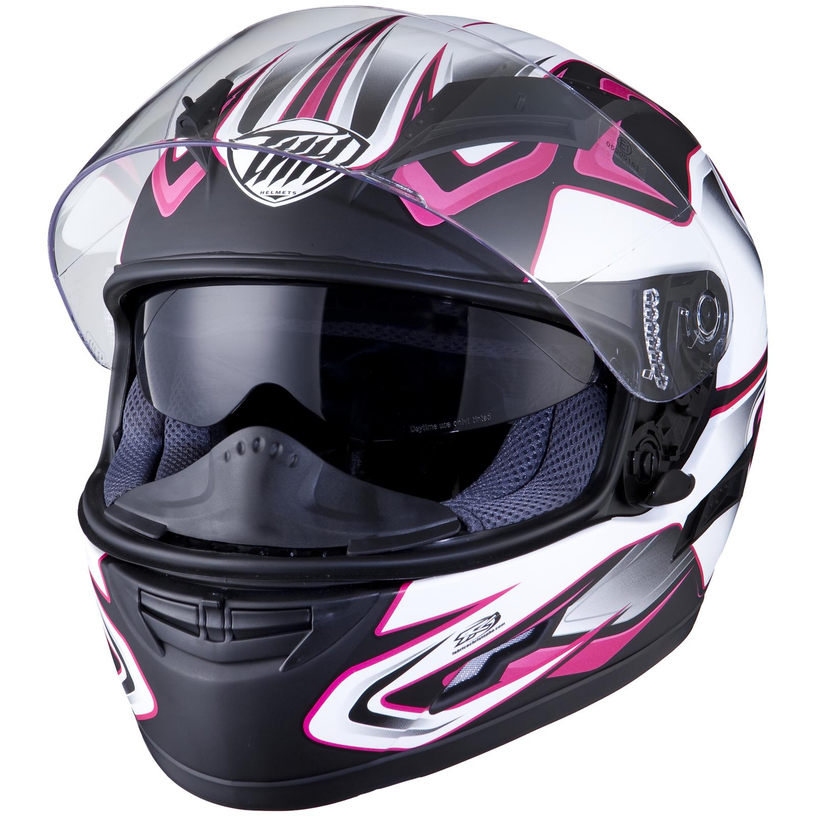 Thh Ts 80 4 Black Pink Motorcycle Helmet Internal