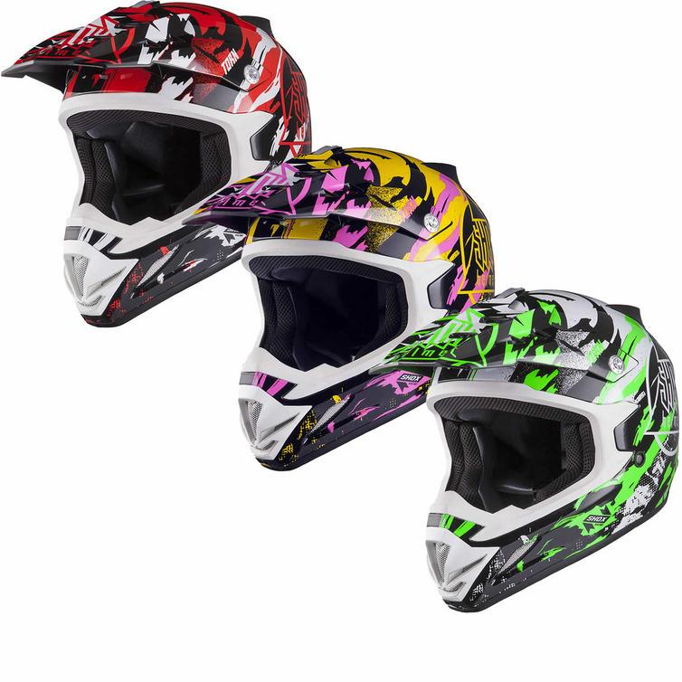 Shox MX-1 Torn Motocross Helmet