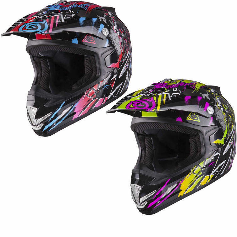 Shox MX-1 Nightmare Kids Motocross Helmet