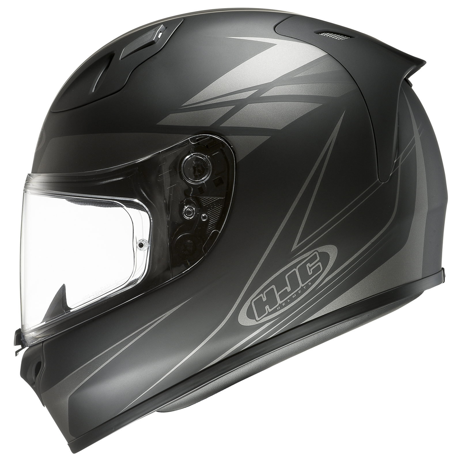 hjc fg 17 force matt black grey motorcycle helmet acu full face crash motorbike ebay. Black Bedroom Furniture Sets. Home Design Ideas