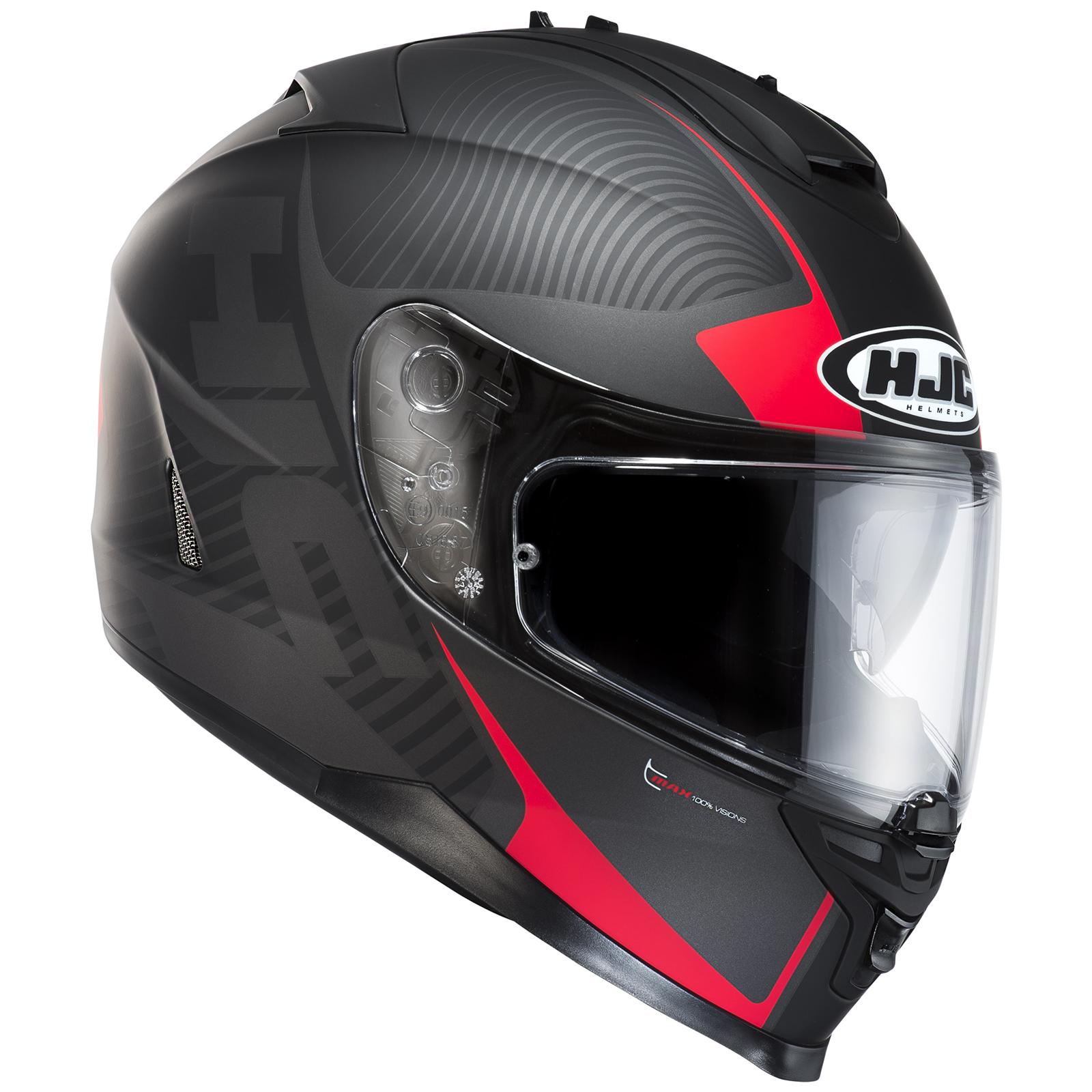 hjc is 17 mission matt black grey red motorcycle helmet. Black Bedroom Furniture Sets. Home Design Ideas