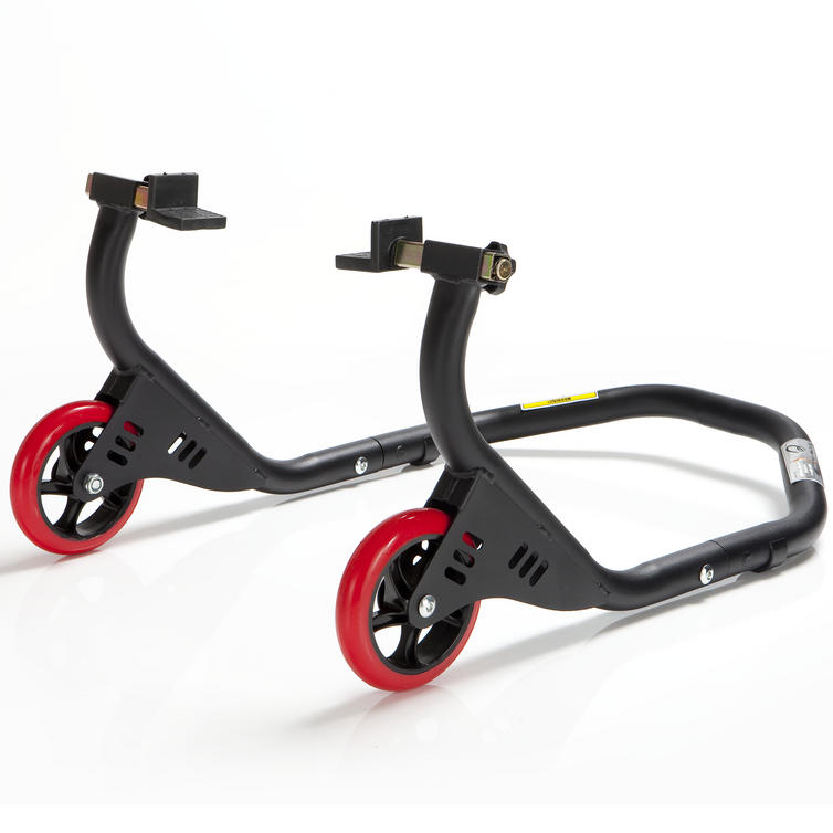 Image of Black Pro Range Evo Rear Paddock Stand (B5163 with Rubber Cradle Cup Adaptors)