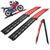 Black Pro Range (B5144) Coated Folding Motorcycle Loading Ramp (Pair)