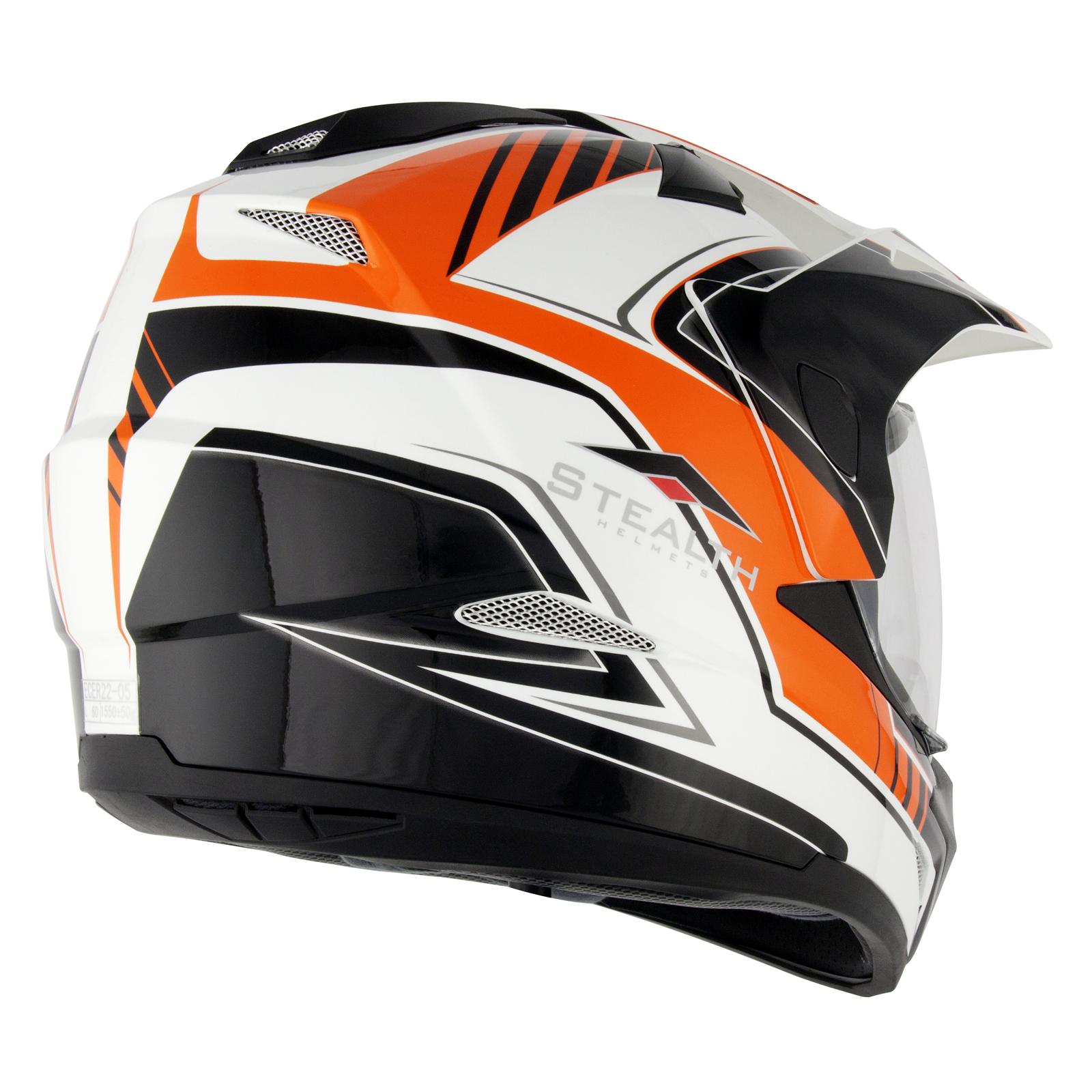 Black and orange motorcycle helmet