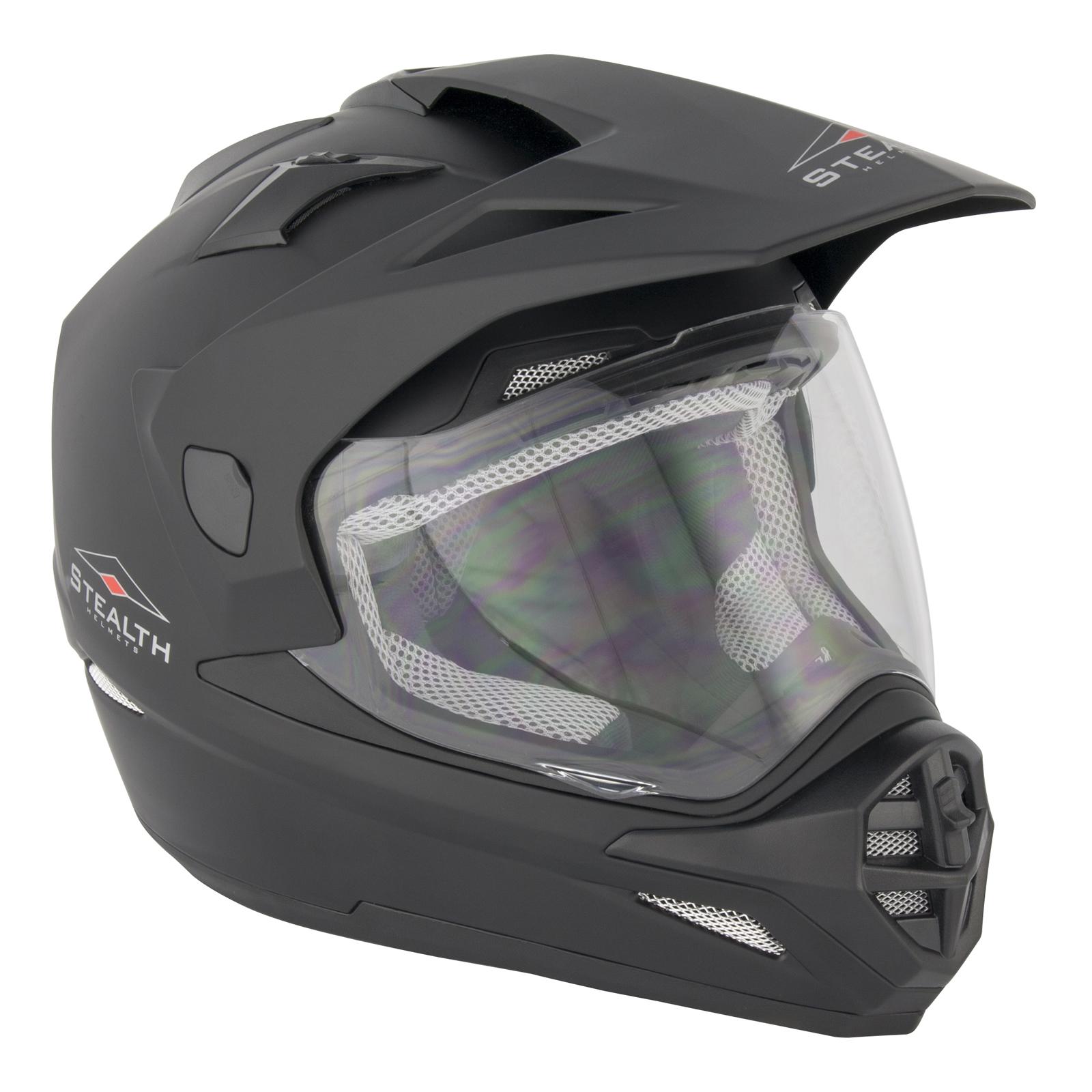 Bell Dual Sport Helmet >> STEALTH HD-009 ADVENTURE DUAL SPORT MOTOCROSS MOTORCYCLE MOTORBIKE PLAIN HELMET | eBay