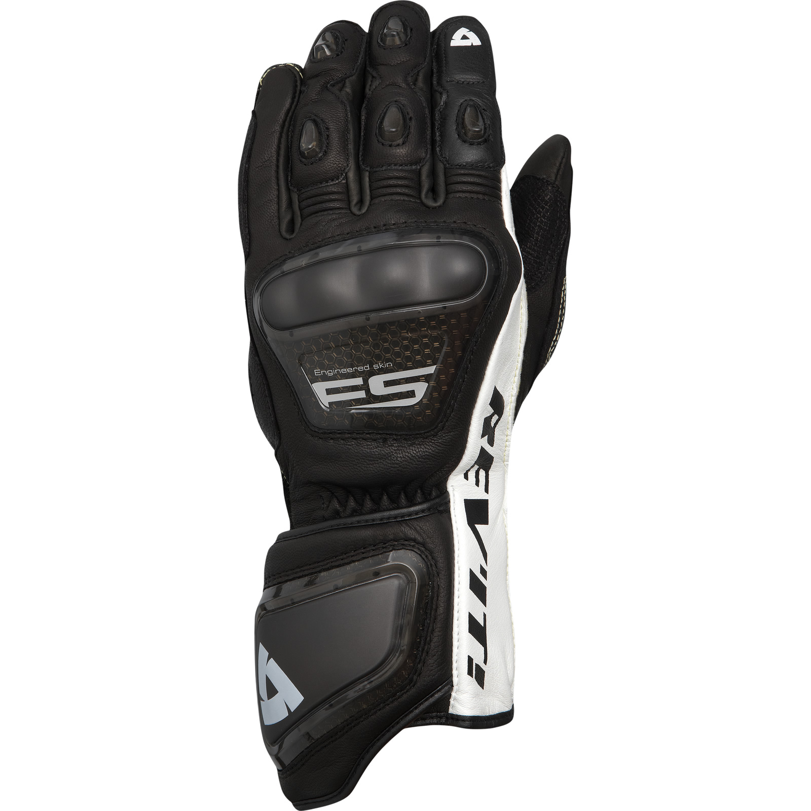 Motorcycle gloves palm protection - Rev It Jerez Motorcycle Gloves Kanagroo Leather Race