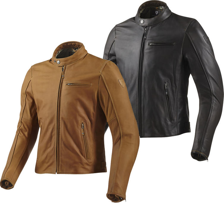 Rev It Flatbush Leather Motorcycle Jacket