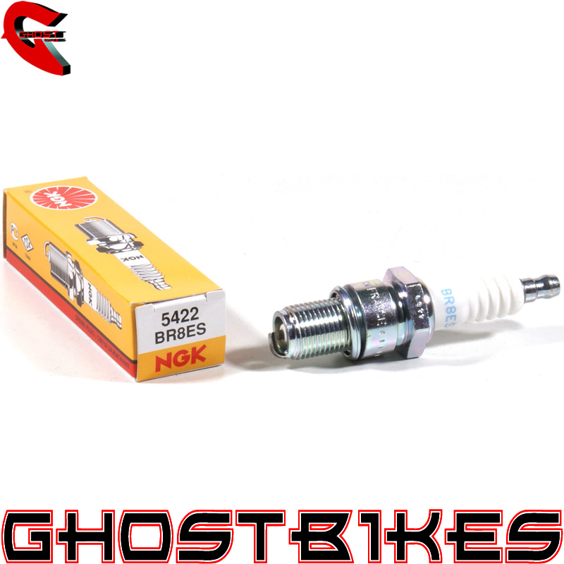 NGK BR8ES STANDARD SPARK PLUG APRILIA ETX 125 98-01 Enlarged Preview