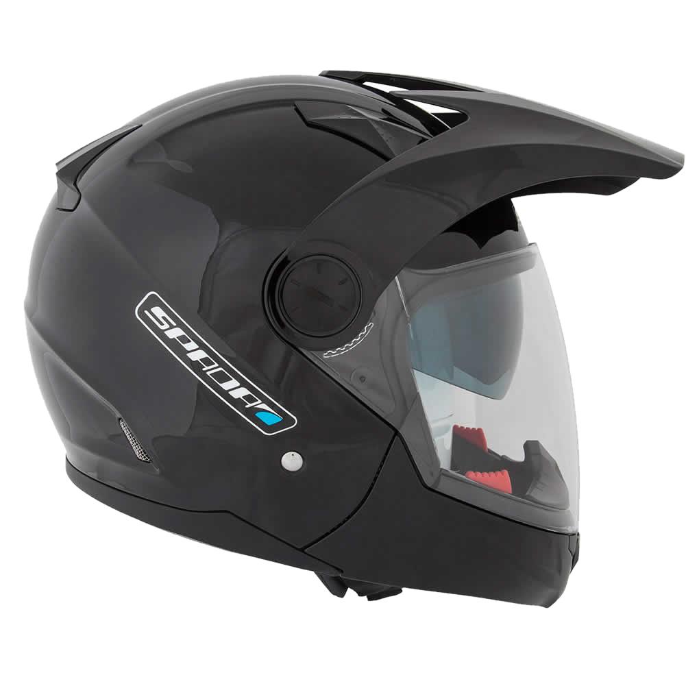 Motorcycle Helmets Dot >> SPADA DUO DUAL SPORT MOTORCYCLE MOTOCROSS MOTORBIKE SUN VISOR MODULAR HELMET | eBay