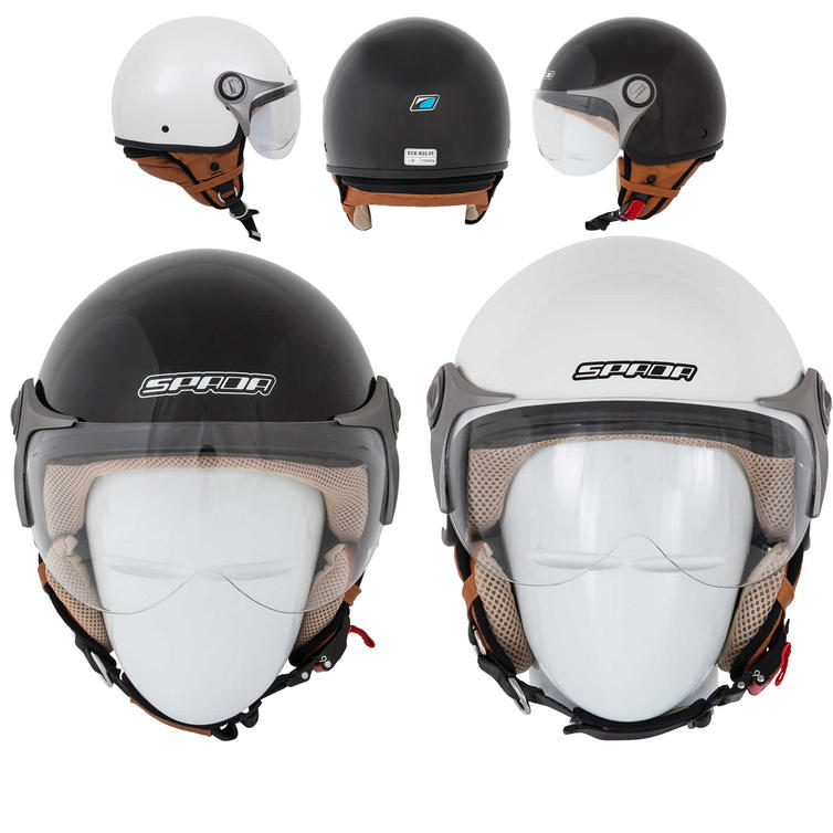 Spada Jetstream Open Face Motorcycle Helmet
