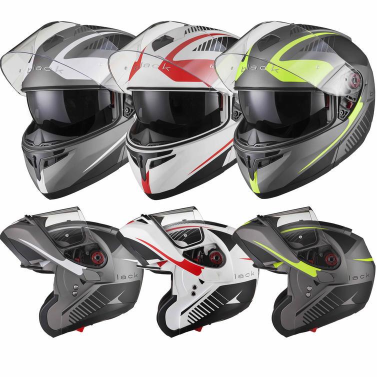 Black Optimus SV Tour Flip Front Motorcycle Helmet