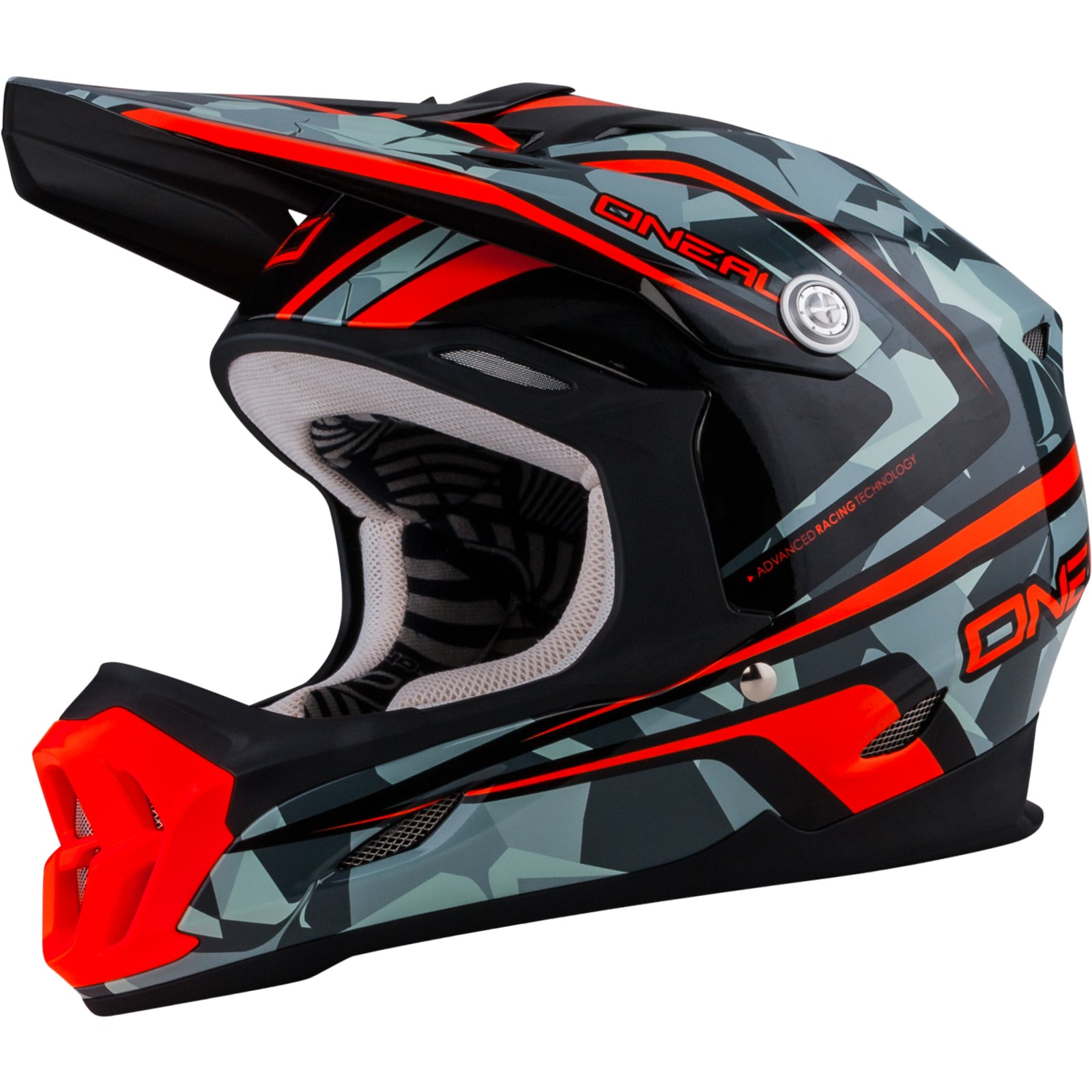 oneal 7 series camo grey orange motocross helmet atv moto. Black Bedroom Furniture Sets. Home Design Ideas