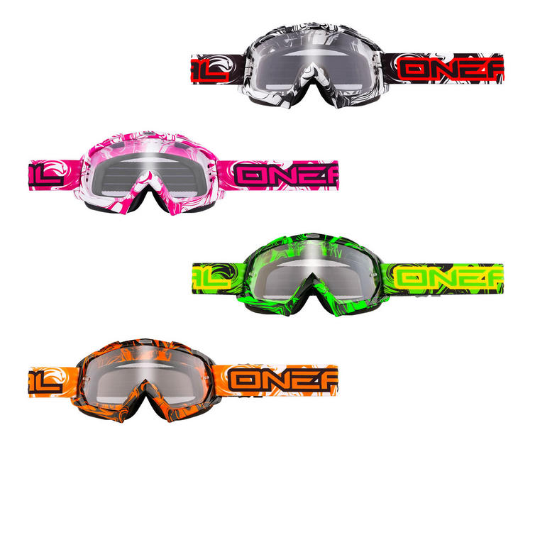 Oneal B-Flex Hendrix Clear Motocross Goggles