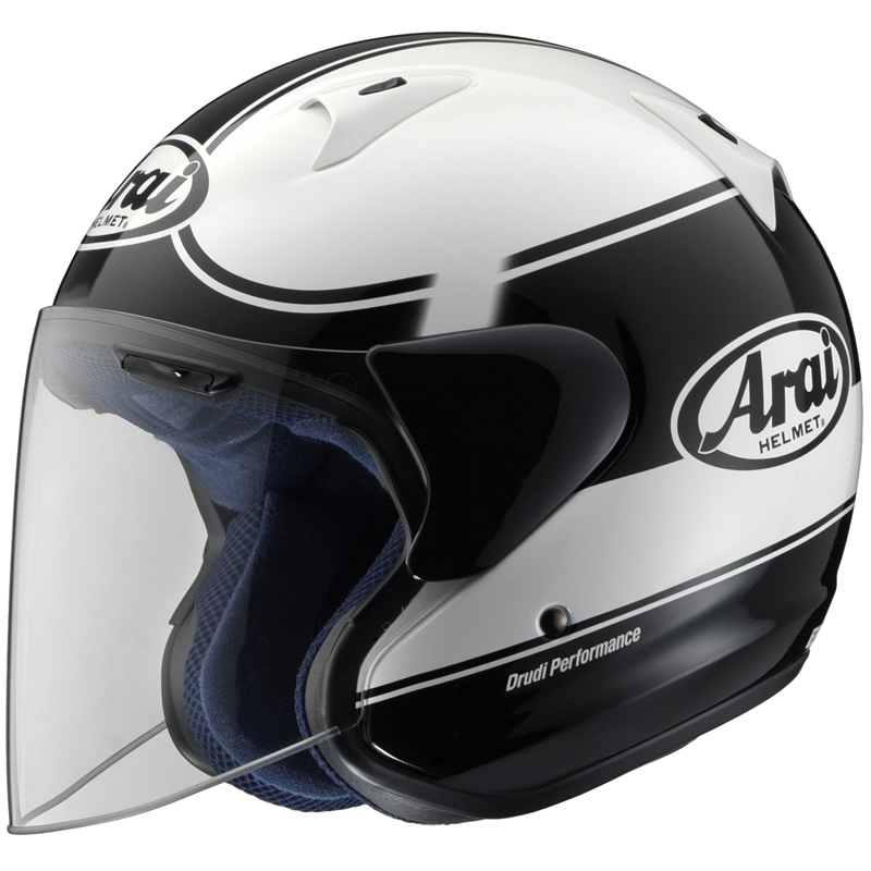arai sz f banda openface motorcycle helmet black l ebay. Black Bedroom Furniture Sets. Home Design Ideas