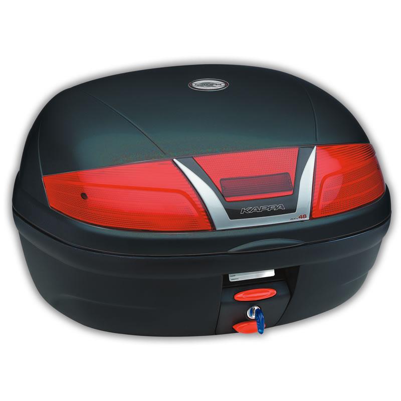 kappa k46n monolock motorcycle top box case black 46l. Black Bedroom Furniture Sets. Home Design Ideas