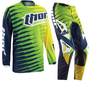 Thor Phase Vented 2015 Rift Lime Motocross Kit