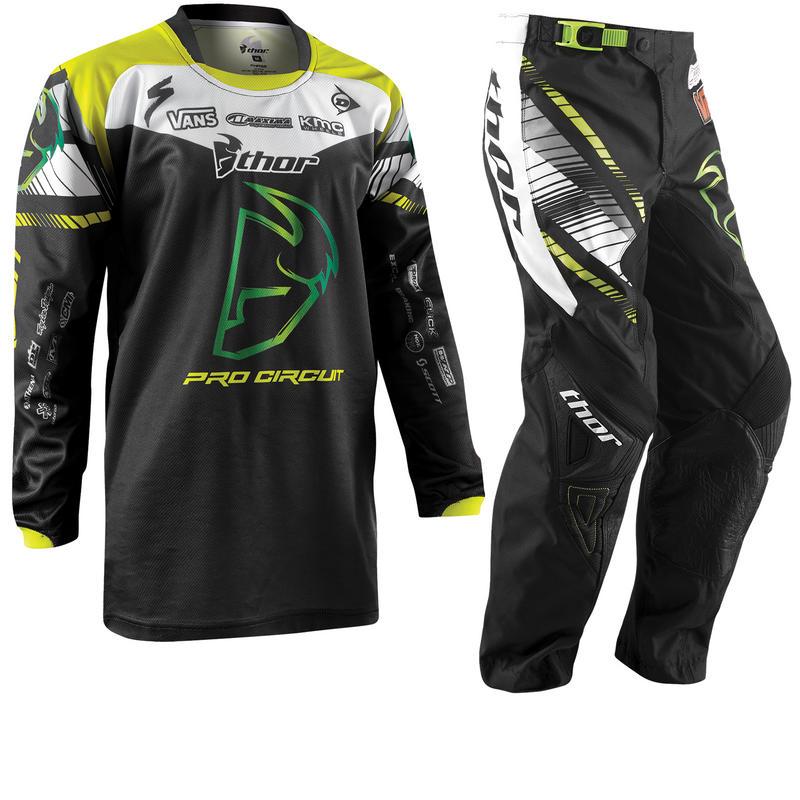 Thor Phase 2015 Youth Pro Circuit Black Motocross Kit