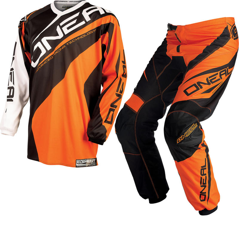 Oneal Element Kids 2015 Racewear Orange Motocross Kit