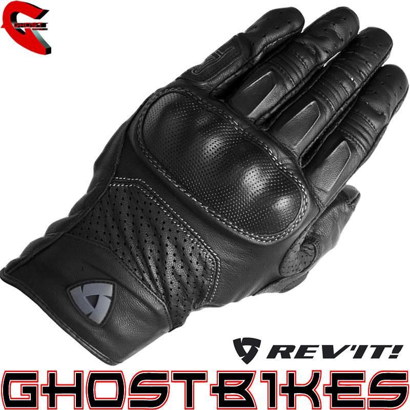 Revit Monster Short Leather Vented Motorcycle Motorbike
