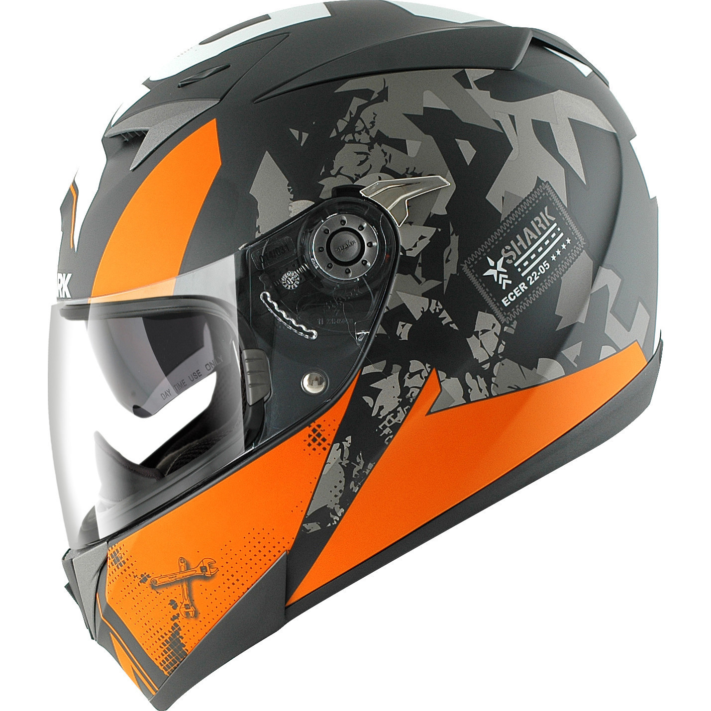 shark s700 s trax matt black orange motorcycle helmet koa. Black Bedroom Furniture Sets. Home Design Ideas